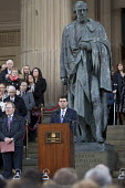 Andy Burnham MP speaking Families and supporters of the 96 victims of the Hillsborough disaster, commemorative vigil, Liverpool - John Harris - 27-04-2016