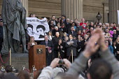 Families and supporters of the 96 victims of the Hillsborough disaster, commemorative vigil, Liverpool, campaigner Margaret Aspinall - John Harris - 27-04-2016