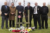 Mick Cash and RMT International Workers Memorial Day, memorial tree and plaque, National Memorial Arboretum, Alrewas, Staffordshire - John Harris - 28-04-2016