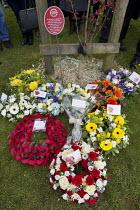 International Workers Memorial Day, memorial tree and plaque, National Memorial Arboretum, Alrewas, Staffordshire - John Harris - 28-04-2016