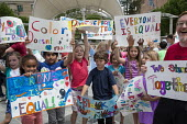 Asheville, North Carolina, YWCA Stand Against Racism rally, Isaac Dickson Elementary School - Jim West - 28-04-2016