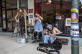 Asheville, North Carolina USA, A jug band busking in the street - Jim West - 28-04-2016