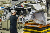 Windsor, Ontario Canada Car production Fiat Chrysler Automobiles Windsor Assembly Plant, where FCA is producing the 2017 Chrysler Pacifica - Jim West - 06-05-2016