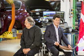 Windsor, Ontario Canada, FCA CEO Sergio Marchionne (L) and Unifor Pres Jerry Dias at the launch of the 2017 Chrysler Pacifica, Fiat Chrysler Automobiles Windsor Assembly Plant - Jim West - 2010s,2016,Assembly,AUTO,auto industry,AUTOMOBILE,AUTOMOBILES,automotive,Automotive Industry,boss,bosses,Canada,capitalism,capitalist,car,Car Industry,carindustry,CARS,CEO,Chrysler,Chrysler Pacifica,E