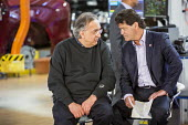 Ontario Canada, FCA CEO Sergio Marchionne (L) and Unifor Pres Jerry Dias at the launch of the 2017 Chrysler Pacifica, Fiat Chrysler Automobiles Windsor Assembly Plant - Jim West - 2010s,2016,Assembly,AUTO,auto industry,AUTOMOBILE,AUTOMOBILES,automotive,Automotive Industry,boss,bosses,Canada,capitalism,capitalist,car,Car Industry,carindustry,CARS,CEO,Chrysler,Chrysler Pacifica,c