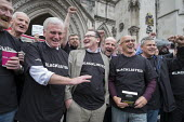 John McDonnell and Blacklist Support Group outside the Royal Courts of Justice after victory in their campaign for compensation for illegal blacklisting of construction workers - Philip Wolmuth - 11-05-2016