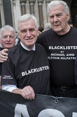 John McDonnell and Blacklist Support Group outside the Royal Courts of Justice after victory in their campaign for compensation for illegal blacklisting of construction workers - Philip Wolmuth - 2010s,2016,activist,activists,at,blacklist,blacklisted,blacklisting,building workers,campaign,campaigner,campaigners,campaigning,CAMPAIGNS,CELEBRATE,celebrating,celebration,celebrations,Construction I