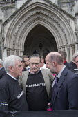 John McDonnell MP and Roy Bentham, Blacklist Support Group celebrate outside the Royal Courts of Justice after victory in their campaign for compensation for illegal blacklisting of construction worke... - Philip Wolmuth - 11-05-2016