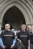 Blacklist Support Group outside the Royal Courts of Justice after victory in their campaign for compensation for illegal blacklisting of construction workers - Philip Wolmuth - 11-05-2016