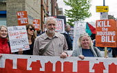 Jeremy Corbyn MP protest march to Holloway Prison against the Housing Bill and in support of council housing and affordable rents for tenants - Stefano Cagnoni - 14-05-2016