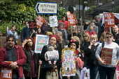 March to Holloway Prison which is to be sold off for housing development, protest against the Housing Bill, in support of council housing and affordable rents for all tenants - Stefano Cagnoni - 14-05-2016