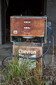 Eddy, Florida, USA, derelict Chevron petrol station and pumps - Jim West - 2010s,2016,abandoned,America,american,americans,capitalism,capitalist,Chevron,Chevron Corporation,closed,closing,closure,closures,deindustrialisation,Deindustrialization,derelict,DERELICTION,EBF,Econo