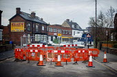 Roadworks blocking the road, Sheffield, Yorkshire - Connor Matheson - 21-01-2016