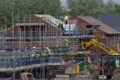 House building Telford Shropshire - John Harris - 2010s,2016,Barratt Homes,builder,builders,building,building site,Building Worker,buildings,Construction Industry,EBF,Economic,Economy,employee,employees,Employment,greenbelt,greenfield,house,house bui