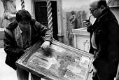 Florence Floods, Italy, 1966 in which 100 died and many cultural artefacts, books, paintings and sculptures were damaged. It was the worst flood for five hundred years. In the Bardini Museum, the Dire... - Romano Cagnoni - 11-11-1966