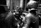 Florence Floods, Italy, 1966 in which 100 died and many cultural artefacts, books, paintings and sculptures were damaged. It was the worst flood for five hundred years. Suits and armour taken from the... - Romano Cagnoni - 11-11-1966