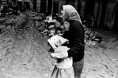 Florence Floods, Italy, 1966 in which 100 died and many cultural artefacts, books, paintings and sculptures were damaged. It was the worst flood for five hundred years. In a working class quarter near... - Romano Cagnoni - 14-11-1966