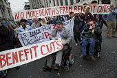 TUC Disabled Workers Conference and DPAC protest blocking Tottenham Court Road against benefit cuts and related deaths. London. - Jess Hurd - 19-05-2016