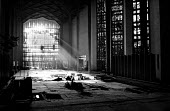The rebuilding of Coventry Cathedral, completed in 1962, more than two decades after suffering terrible damage as a result of bombing during the Second World War. Light from the stained glass window s... - Alex Low - World War two, WW2,1960s,1962,2nd,BOMB,bombing,bombings,BOMBS,Brownfield Site,building,building site,buildings,Cathedral,CATHEDRALS,church,churches,construction,Coventry Cathedral,damage,damaged,destr