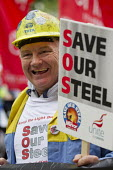 Steve Erwin. Steelworkers marching to demand government support the steel industry, Save Our Steel, Westminster, London. - Jess Hurd - 25-05-2016