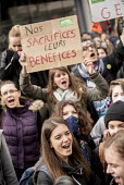 Students protest against proposed labor reforms, France, Our sacrifices, their profits - Jean Claude Moschetti - 31-03-2016