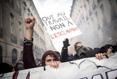 Students protests against proposed labor reforms, France, Yes to work, not to slavery - Jean Claude Moschetti - 22-03-2016
