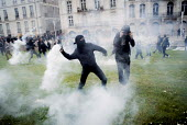 Defying a ban on protest against proposed labor reforms, Nantes, France, Protesters caught in tear gas - Jean Claude Moschetti - 19-05-2016