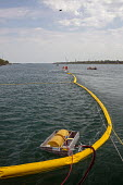 Marysville, Michigan U.S. Coast Guard training for an oil spill, where two Enbridge Energy pipelines cross the St. Clair River between the USA and Canada - Jim West - 25-05-2016