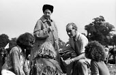 The People's Free Festival, Windsor Park, 1973. Upper class couple talking to hippies at the free festival - Peter Harrap - 25-08-1973