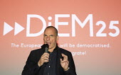 Yanis Varoufakis speaking about DiEM25. Another Europe is Possible conference, Vote In campaign. UCL Institute of Education. London. - Jess Hurd - 28-05-2016