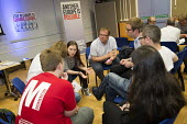 Another Europe is Possible conference, Vote In campaign. Referendum on European membership. UCL Institute of Education. London. Group discussion - Jess Hurd - 28-05-2016