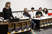 Gareth Peirce human rights lawyer speaking, Prevent, Islamophobia and Civil Liberties Conference, Goldsmiths College, London - Jess Hurd - 04-06-2016
