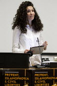 Malia Bouattia, Black Students Campaign, Prevent, Islamophobia and Civil Liberties Conference. Goldsmiths College, London. - Jess Hurd - 04-06-2016