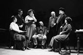 Better Times written by Barrie Keeffe, staged at Theatre Royal Stratford East, London 1985. The play tells the story of the 1921 Poplar Rates Revolt. Actors playing the Labour Councillors meeting to m... - Stefano Cagnoni - 1980s,1985,ACE,act,acting,actor,actors,actress,actresses,arts,cities,city,culture,drama,DRAMATIC,entertainment,FEMALE,historical drama,London,meeting,MEETINGS,people,person,persons,play,playing,plays,