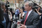 Nigel Farage interviewed at Launch of EU Referendum campaign poster, London - Philip Wolmuth - 2010s,2016,BBC,Brexit,broadcast,broadcasting,camera,cameras,campaign,campaigning,CAMPAIGNS,communicating,communication,EU,Europe,eurosceptic,Euroscepticism,eurosceptics,far right,far right,filming,int