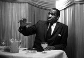Black American singer and activist Paul Robeson visiting London, 1958 - Alan Vines - 1950s,1958,ACE,ACTING,activist,activists,Actor,actors,American,americans,Arts,author,authors,BAME,BAMEs,baritone,bass,black,BME,bmes,campaign,campaigner,campaigners,campaigning,CAMPAIGNS,civil rights,