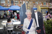 Queen Elizabeth II 90th birthday celebration weekend. EastendHomes Street Party. Tower Hamlets, East London - Jess Hurd - 2010s,2016,2nd,90th,birthday,BIRTHDAYS,CELEBRATE,CELEBRATING,celebration,CELEBRATIONS,cities,City,communities,community,cut out,cutout,East London,Eastender,eastenders,flag,FLAGS,leisure,lfL,LIFE,life