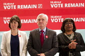 John McDonnell MP, Vote Remain referendum photo call, TUC Congress House, London. - Jess Hurd - 14-06-2016