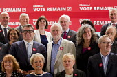Jeremy Corbyn, his shadow cabinet and trade union leaders, Vote Remain referendum photo call, TUC Congress House, London. - Jess Hurd - 14-06-2016