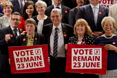 Dave Prentis UNISON, with the shadow cabinet and other trade union leaders, Vote Remain referendum photo call, TUC Congress House, London. - Jess Hurd - 14-06-2016