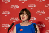 Frances O'Grady addresses health workers at TUC NHS safer in the EU rally. Congress House, London. - Jess Hurd - 14-06-2016