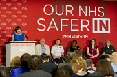 Frances O'Grady addresses health workers at TUC NHS safer in the EU rally. Congress House, London. - Jess Hurd - 2010s,2016,BAME,BAMEs,Black,BME,bmes,brexit,care,Congress House,diversity,ethnic,ethnicity,EU,FEMALE,Frances O'Grady,health,HEALTH SERVICES,health TUCs,healthcare,House,houses,Labour Party,London,memb