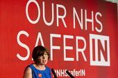 Frances O'Grady addresses health workers at TUC NHS safer in the EU rally. Congress House, London. - Jess Hurd - 2010s,2016,brexit,care,Congress House,EU,FEMALE,Frances O'Grady,health,HEALTH SERVICES,health TUCs,healthcare,House,houses,London,member,member members,members,national health service,NHS,O grady,O'Gr