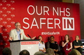 Jeremy Corbyn addresses health workers at TUC NHS safer in the EU rally. Congress House, London. - Jess Hurd - 2010s,2016,brexit,care,Congress House,EU,health,HEALTH SERVICES,health TUCs,healthcare,House,houses,Jeremy Corbyn,Labour Party,London,member,member members,members,MP,MPs,NATIONAL HEALTH SERVICE,NHS,p