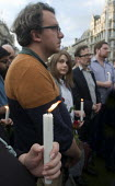 Vigil in Parliament Square for Jo Cox MP. Candlelit vigil in Westminster for murdered Labour MP, Jo Cox, London - Stefano Cagnoni - 17-06-2016