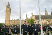 Vigil in Parliament Square for Jo Cox MP. Labour MPs Ed Miliband, Harriet Harman and Wes Streeting stand in solidarity with others showing their respect opposite the Houses of Parliament. - Stefano Cagnoni - 2010s,2016,candle,candlelit,candles,COMMEMORATE,COMMEMORATING,commemoration,COMMEMORATIONS,death,deaths,died,Ed Miliband,FEMALE,grief,grieving,Harriet Harman,Houses,Jo Cox,kill,killed,killing,Labour P