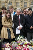 Vigil in Parliament Square for Jo Cox MP. John Bercow, Speaker of the House of Commons stands besides a visibly upset Parliamentary Assistant for Jo Cox MP at the House of Commons. Vigil in Westminste... - Stefano Cagnoni - 17-06-2016