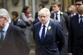 Jo Cox murder. Boris Johnson and other MPs attending a service remembering murdered Labour MP Jo Cox, St Margaret's Church, London - Jess Hurd - 2010s,2016,Boris Johnson,Church,church service,churches,CONSERVATIVE,Conservative Party,conservatives,death,deaths,died,grieving,Jo Cox,kill,killed,killing,London,mortality,MOURNER,MOURNERS,mourning,M