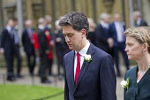 Jo Cox murder. Ed Miliband and Yvette Cooper attending a service remembering murdered Labour MP Jo Cox, St Margaret's Church London - Jess Hurd - 2010s,2016,Church,church service,churches,death,deaths,died,Ed Miliband,FEMALE,grieving,Jo Cox,kill,killed,killing,Labour Party,London,mortality,MOURNER,MOURNERS,mourning,MP,MPs,murder,murdered,murder