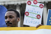Yes To Europe rally, Trafalgar Square, London - Philip Wolmuth - 2010s,2016,EU,Europe,European Union,London,male,man,men,NUS,people,person,persons,placard,placards,POL,political,POLITICIAN,POLITICIANS,Politics,rallies,rally,referendum,Remain,student,students,Young,